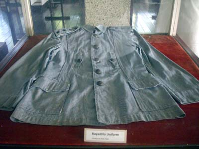The Rayadillo Uniforn at Malvar Museum
