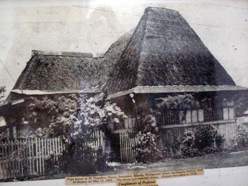Picture of the house where Mabini stayed in Nagtahan - Mabini Shrine