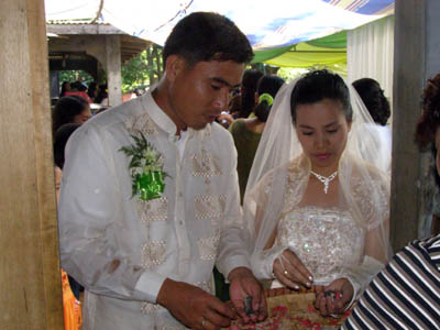 philippine marriage customs There are traditional filipino catholic wedding customs that involve  hello after putting on allthose marriage symbolswhen is the part that.