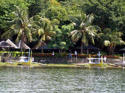 Taal Lake Yacht Club view from the lake