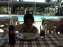 Angel having meal at Lago de Oro