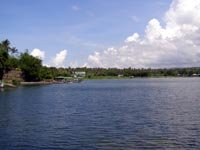 Taal Lake, a large fresh water lake where Taal Volcano is located